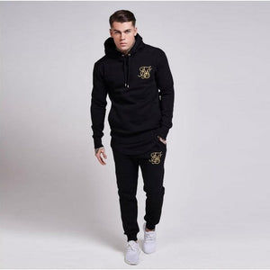 Men Gyms Sets 2018 Fashion Sportswear Tracksuits Sets Men GYMS Hoodies +dresslliy-dresslliy