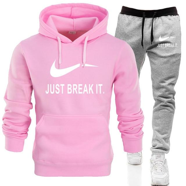 2019 New Spring Men Fleece Lined Sweatshirt + Pants Male Tracksuit JUSTdresslliy-dresslliy