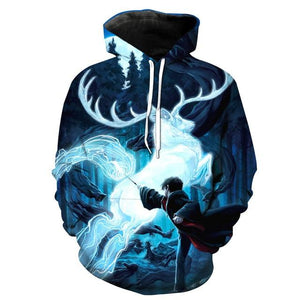 Wizardry 3D Printed Hoodie with Pocket Ravenclaw Gryffindor for Adult Unisex Sweatshirtdresslliy-dresslliy