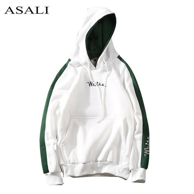2018 Autumn Winter White Hoodies Men Sweatshirts Hooded Casual male/Women Street weardresslliy-dresslliy