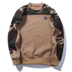 USA SIZE Side Buckle Ribbon Camouflage Hoodies 2018 Mens Hip Hop Casualdresslliy-dresslliy