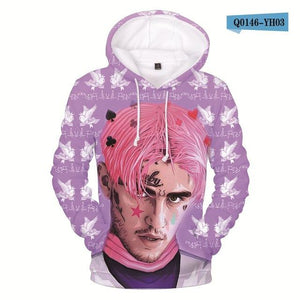 2018 Lil Peep Hoodies Sweatshirt Men and Women O-Neck Hip Hop 3Ddresslliy-dresslliy