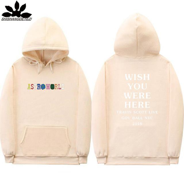 ASTROWORID Hoodies WISH YOU WERE HERE Travis Scott GOV BALL NYC 2018dresslliy-dresslliy