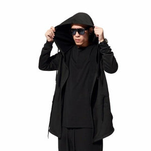 Men's street hip hop hooded hoodies Mens long sleeve solid cloak sweatshirtsdresslliy-dresslliy