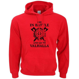 Die In Battle And Go To Valhalla Viking Sweatshirts Hoodies Men 2019dresslliy-dresslliy
