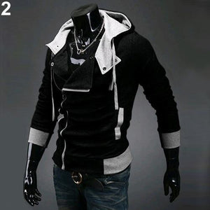 Men's Zipper Active Coat Long Full Sleeves Jacket Warm Outerwear Winter Autumndresslliy-dresslliy