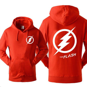 Super Hero The Flash Hooded Men 2019 Autumn Winter Warm Fleece Highdresslliy-dresslliy