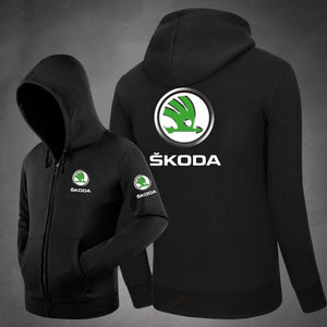 men Autumn winter Fashion Letter Print skoda Sweatshirt Knitted Tops Hoodie coatsdresslliy-dresslliy