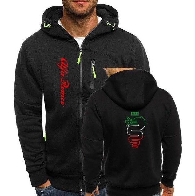 alfa romeo Hoodies Men Fashion Hoodies Brand Personality Zipper Sweatshirt Male Hoodydresslliy-dresslliy