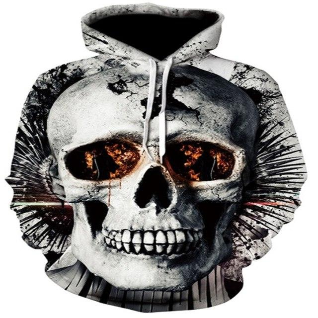 Blue/Red 3d Skull Hoodie Men Women Fashion Winter Spring Sportswear Hip Hopdresslliy-dresslliy