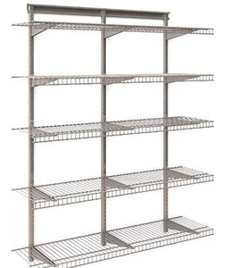 Try 5 tier heavy duty wall mount nickel wire storage shelves adjustable floating wall shelves great organizer kitchen garage laundry pantry office any room 5 shelf kit stable durable