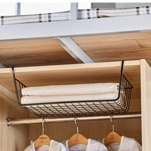 Load image into Gallery viewer, Try esupport under shelf storage basket hanging under cabinet wire basket organizer rack dormitory bedside corner shelves for kitchen pantry desk bookshelf cupboard