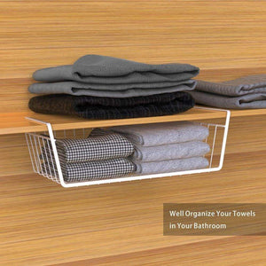 Results under shelf basket ace teah 4 pack under shelf rack wire rack under shelf storage organizer saving spaces for pantry cabinet closet white