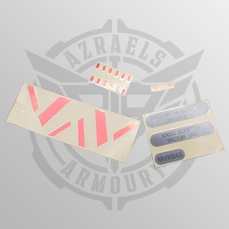 Vector Metal Sticker Set