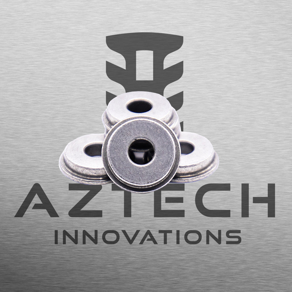 Aztech 8mm Low Profile Bushes 440 Stainless V2 Gearbox for Gelball and Airsoft