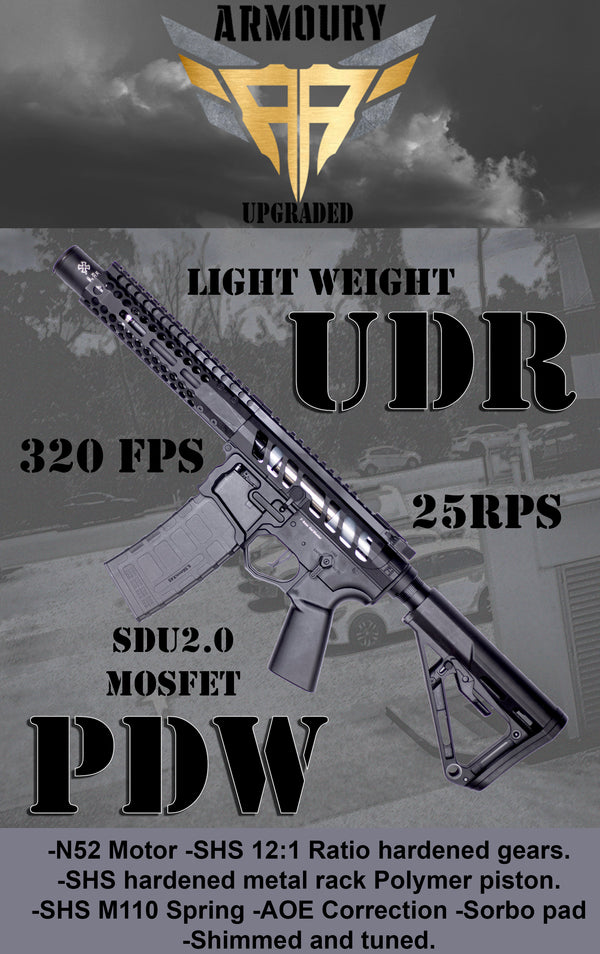 Upgraded 320FPS EMG F1 Titan UDR PDW Gel Blaster