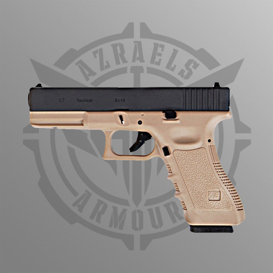 WE Glock 17 Tan Gen 3 Gas Blowback Gel Blaster