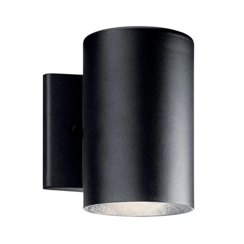 Cylinder Sconce, Cylinder LED Wall Sconce, Textured Black