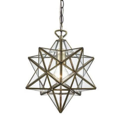 Moravian Star 1-Light Pendant with Clear Glass