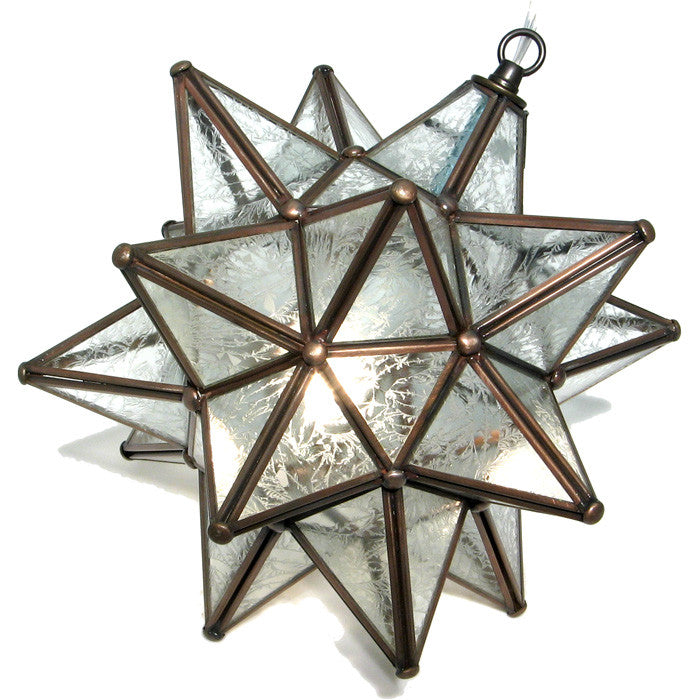 Moravian Glue Chip Glass Star