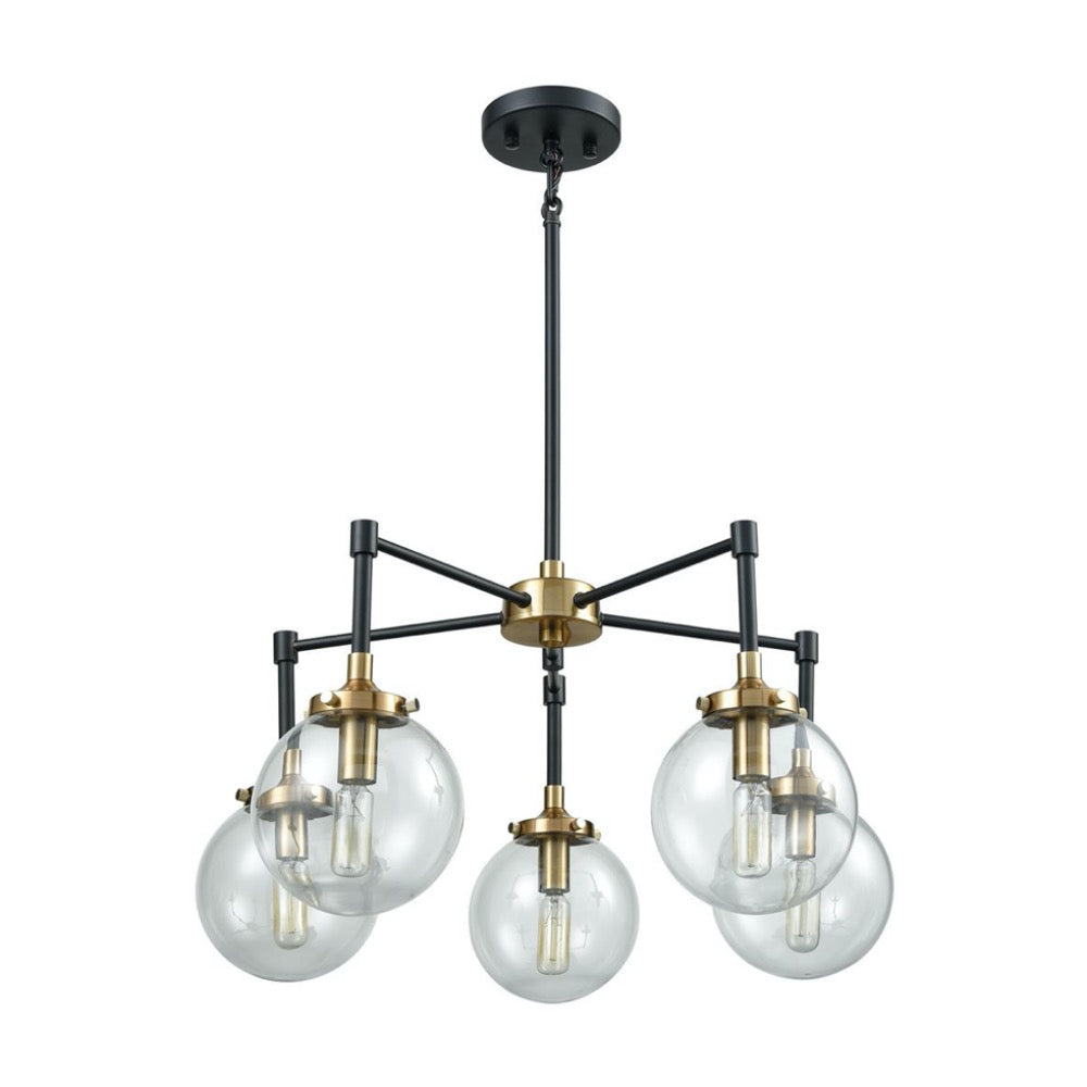 Nyx 5-Light Chandelier, Chandelier, Matte black