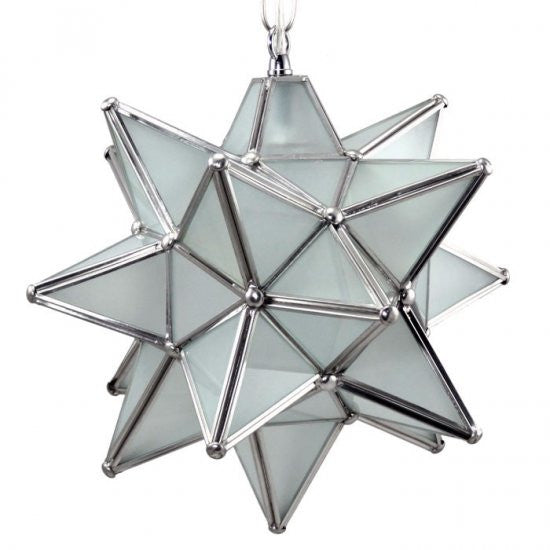 Moravian Frosted Glass Star Light
