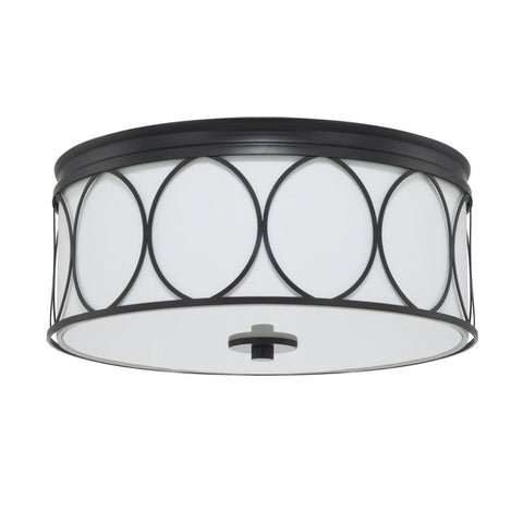 Colton 3-Light Flush Mount, Flush Mount, Matte Black