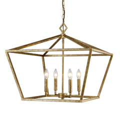 Geometric Cage 4-light Lantern