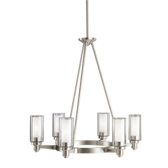 Circolo 5-Light Chandelier in Brushed Nickel, by Kichler, 2344NI