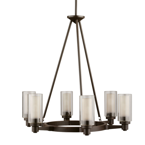 Circolo 6-Light Chandelier in Olde Bronze, by Kichler, 2344OZ