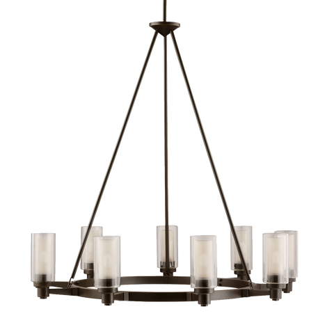 Circolo 9-Light Chandelier in Olde Bronze, by Kichler, 2346OZ