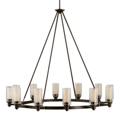 Circolo 12-Light Chandelier in Olde Bronze, by Kichler, 2347OZ
