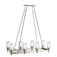 Circolo Linear Chandelier in Brushed Nickel, by Kichler, 2943NI
