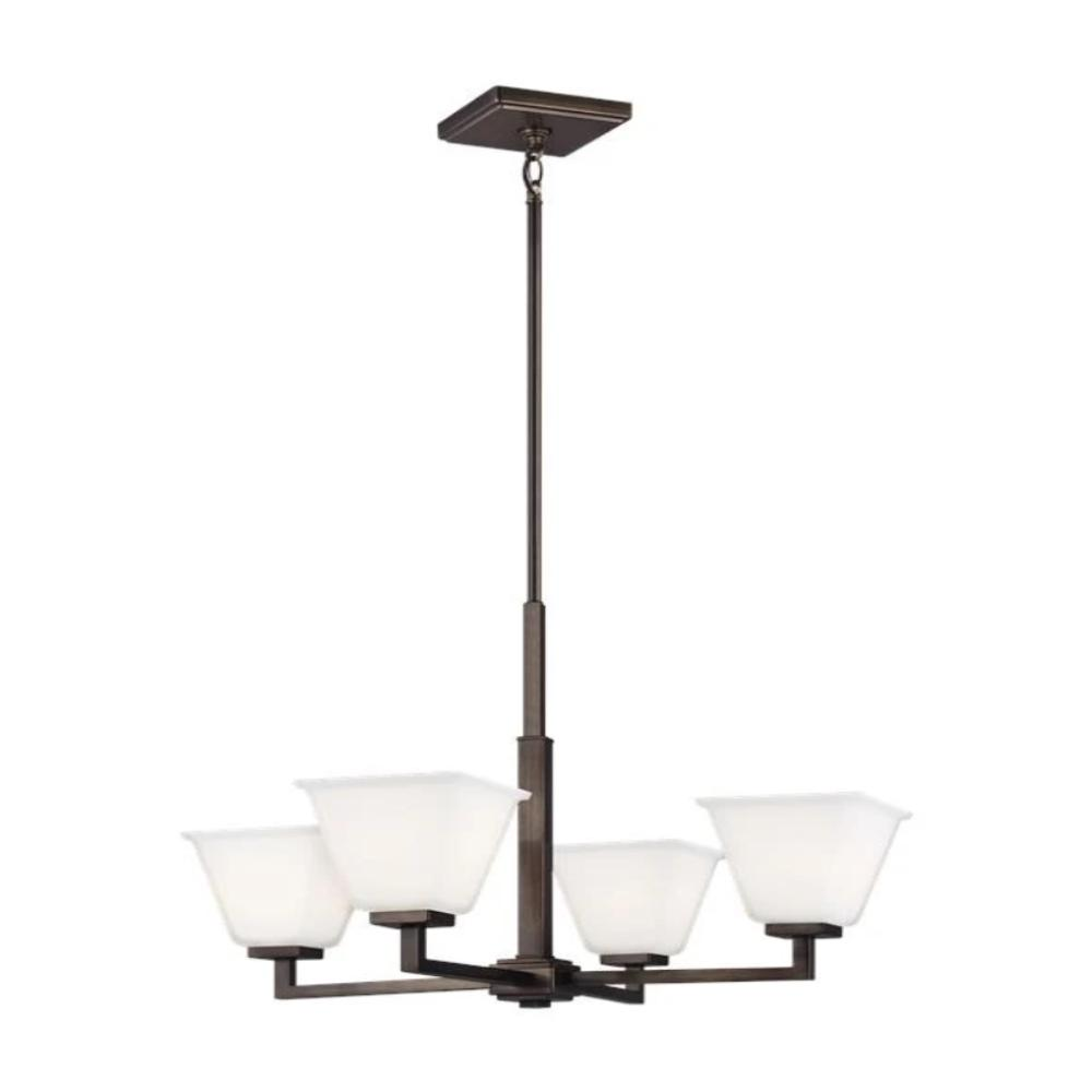 Poppy 4-Light Chandelier, Chandelier, Oil Rubbed Bronze