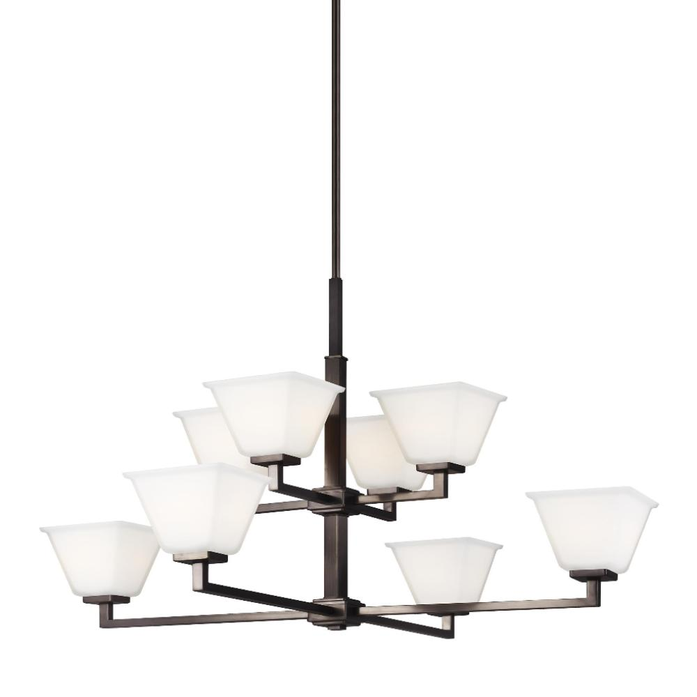 Poppy 8-Light Chandelier, Chandelier, Rubbed Bronze
