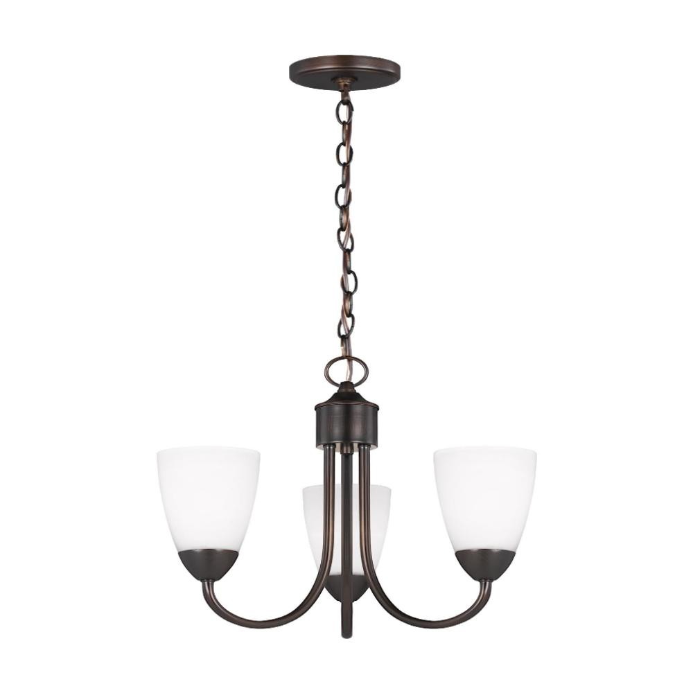 Barton 3-Light Chandelier, Chandelier, Bronze