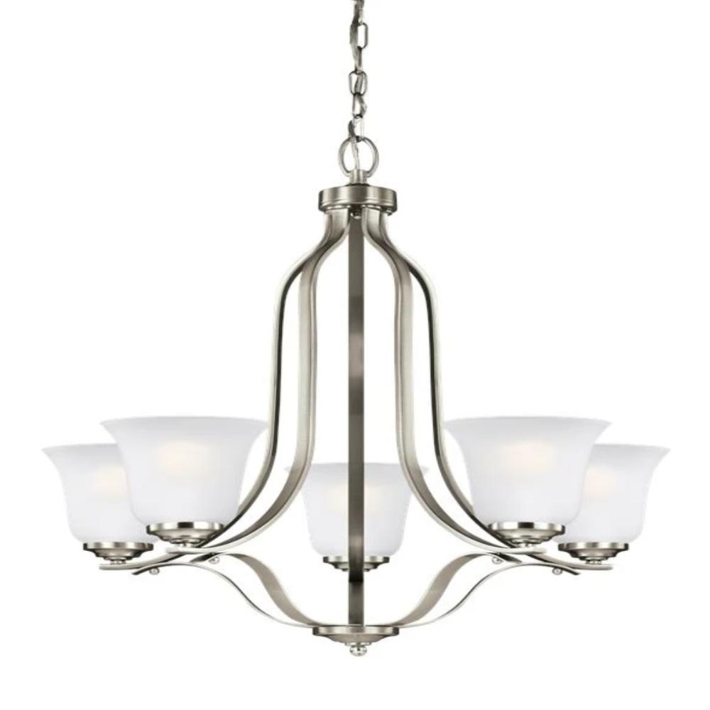 Hanover 5-Light Chandelier, Chandelier, Brushed Nickel