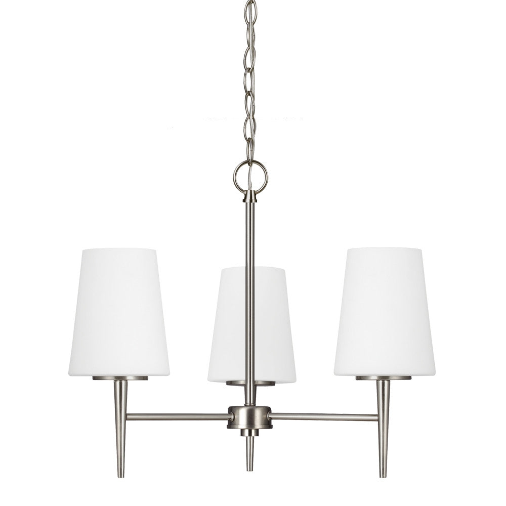 Driscoll chandelier 3 light satin bronze seagull lighting 3140405 driscoll 3 light chandelier in brushed nickel by seagull lighting 3140403 962 arubaitofo Images