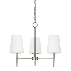 Driscoll 3-Light Chandelier in Brushed Nickel, by Seagull Lighting, 3140403-962