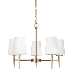 Driscoll 5-Light Chandelier in Satin Bronze, by Seagull Lighting, 3140405-848
