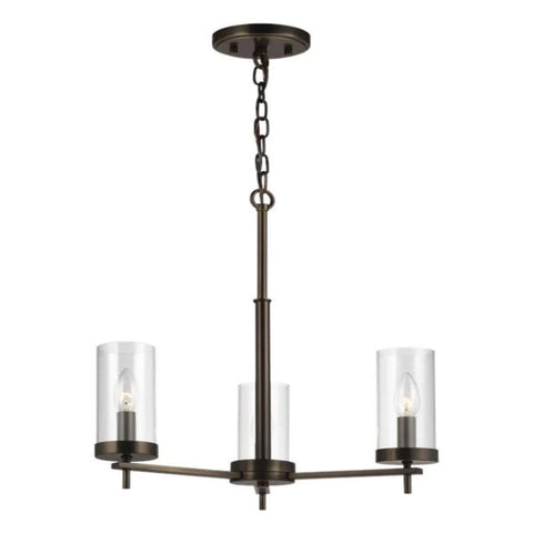 Huntington 3-Light Chandelier, Chandelier, Oil Rubbed Bronze