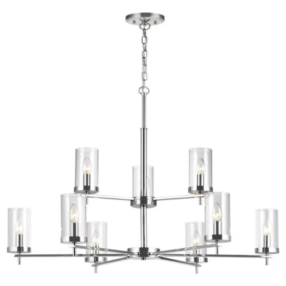 Huntington 9-Light Chandelier, Chandelier, Chrome