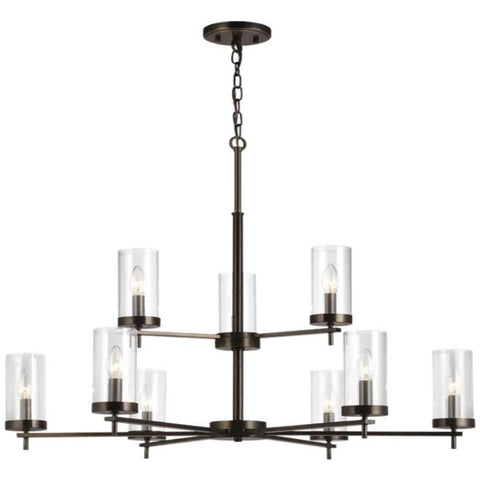 Huntington 9-Light Chandelier, Chandelier, Oil Rubbed Bronze