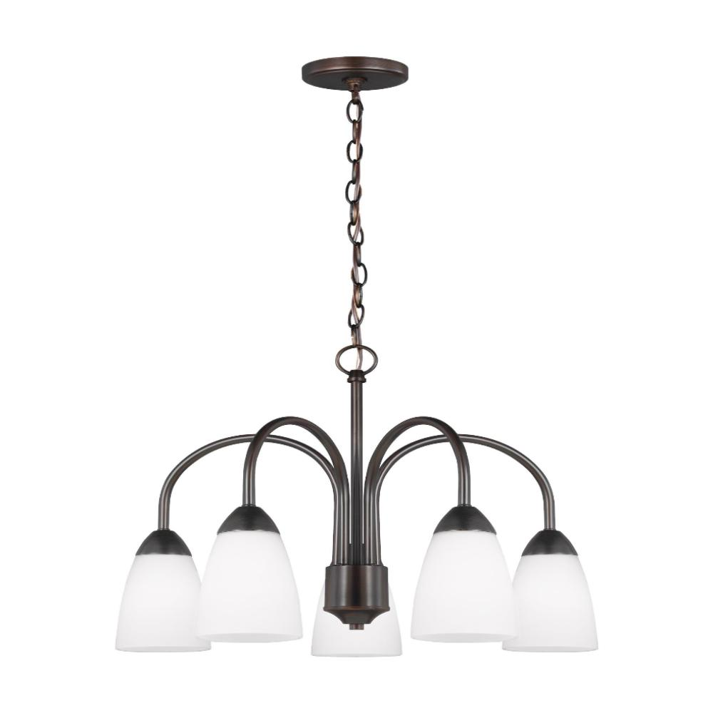 Barton 5-light Downlight Chandelier, Chandelier, Bronze