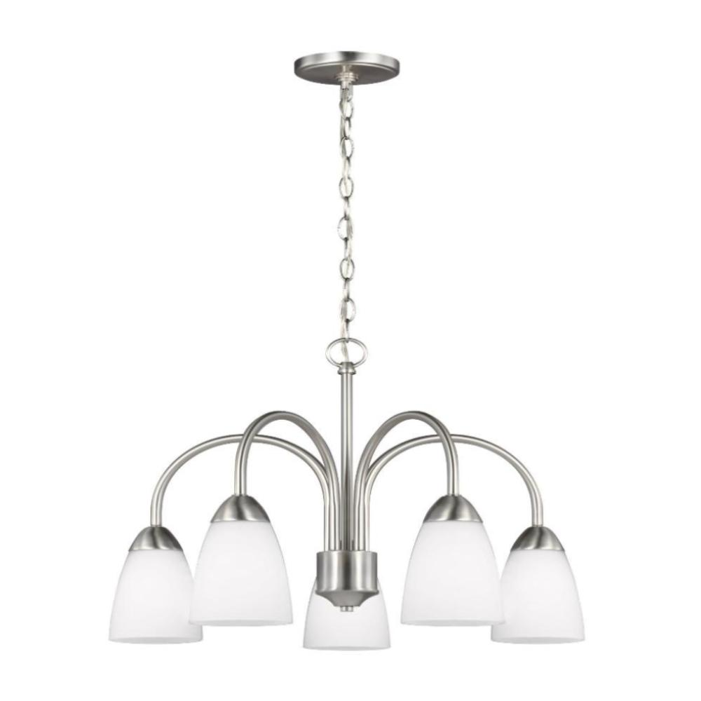 Barton 5-light Downlight Chandelier, Chandelier, Brushed Nickel