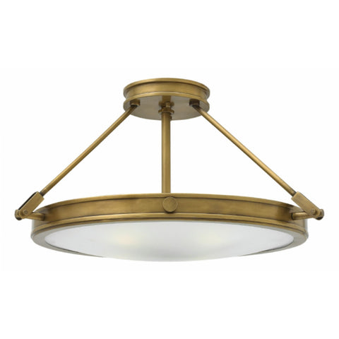 Heritage Brass Collier Semi-Flush