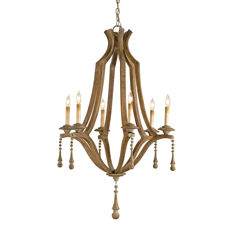 Nixie Chandelier, Chandelier, Washed Wood