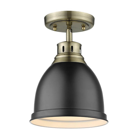 Elm Flush Mount in Aged Brass