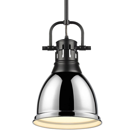 Duncan Small Pendant with Rod in Black