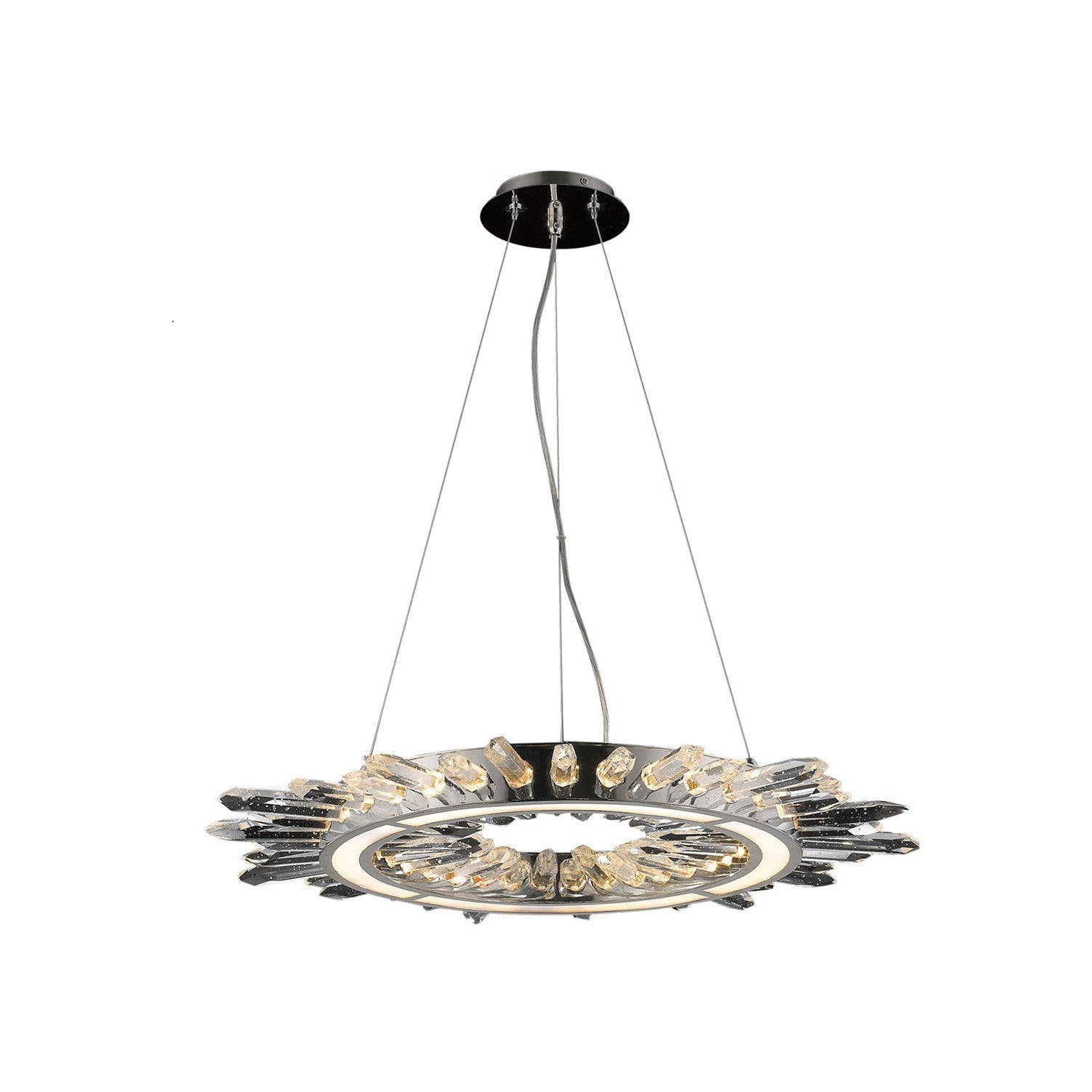 Avenue Lighting Aspen Crystal and Polished Nickel Modern LED Chandelier